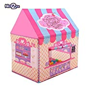 Specifications A beautiful pink tent creates a kingdom in any corner inside or outside your house. This Lightweight and portable castle comes with a color matching carrying case for more convenient storage and transport. Set up in few minutes...