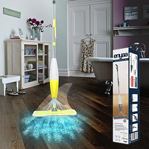 Enyaa 2en 1Spray Mop Kit con limpiador de ventanas 2x reutilizable almohadilla...