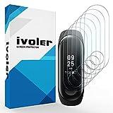 iVoler [6 Stück] Schutzfolie Bildschirmschutzfolie für Xiaomi Mi Band 3, 3D Vollständige Abdeckung [Wet Applied] [Anti-Kratz] [Blasenfrei] HD TPU Weich Folie