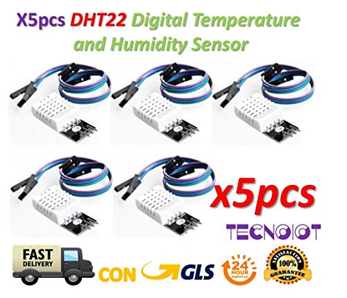 TECNOIOT 5pcs DHT22 Digital Temperature Humidity Sensor