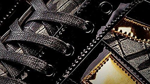 SHIXR Hommes Chaussures de planche à roulettes Chaussures Basse Tendance Chaussures Chaussures Style Européen De Ville Décontractée Chaussures Espadrilles Gold