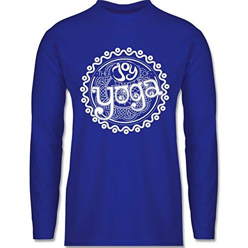 Wellness, Yoga & Co. - The joy of yoga - Longsleeve / langärmeliges T-Shirt für Herren Royalblau