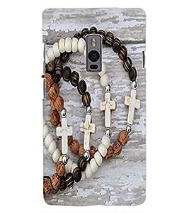 ColourCraft Jesus Cross Bracelet Design Back Case Cover for OnePlus Two