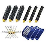 bescita Vac Filtre & Bristle Brush & Flexible Beater Brush Armed & 6Side Brush Pack replenishment Mega Kit pour iRobot Roomba 600Series (620630650660680) Vacuum Cleaning Robots