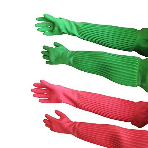 Gants longs latex caoutchouc étanche - Gants réutilisables