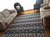Orientshop® Grosser Teppich Kelim Kilim Carpet Bodenmatte Bodenbelag Orientalischer Turkischer Carpet Rug Kunstfaser mit samtiger (Chenille) Oberfläche (200 * 300cm, Bunt) Waschbar