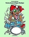 Livre de coloriage Dessin humoristique Musique 1...