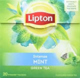 Lipton Grüner Tee, Minze Pyramidenbeutel, 20 Stück