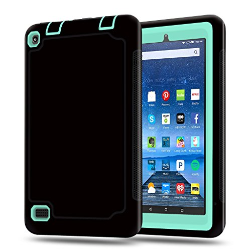 Fire 7 2015 Fall, kingcool Rugged Hybrid Case Full Body Schutzhülle für Amazon Fire 17,8 cm Tablet (5. Generation 2015 Release - Fall Kindle-version 2