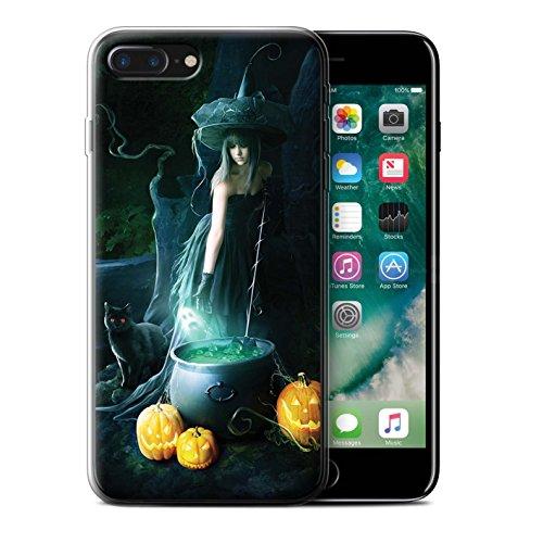 Officiel Elena Dudina Coque / Etui Gel TPU pour Apple iPhone 7 Plus / Maestro/Sorcier Design / Magie Noire Collection Sorcière Chaudron