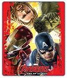 Coperta plaid in pile da letto, culla e divano stampa Avengers four face originale con licenza Marvel.