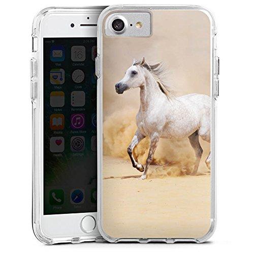 Apple iPhone X Bumper Hülle Bumper Case Glitzer Hülle Pferd Horse Araber Bumper Case transparent