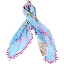 ef92c3c3a4b1 Foulard La Reine des Neiges- Frozen-60 x 60 cm- bleu et rose