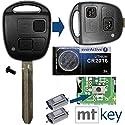 Auto Schlüssel Funk Fernbedienung 1x Gehäuse 2 Tasten TOY43 + 1x Tastenfeld + 2X Mikrotaster + 1x CR2016 Batterie für Toyota