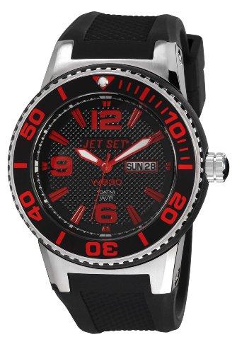 J-Jet Set 55454-867-Wb30 Unisex Watch Analogue Quartz Black Rubber Strap Black Dial
