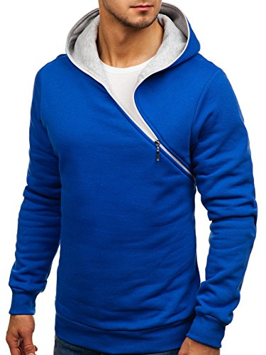 BOLF Herren Kapuzenpullover Sweatshirt Pullover New 46S Kobaltblau
