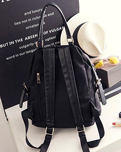 Saideng Ladies Oxford Cloth Zaino Packsack Casual Ragazza Tracolla Nero Nero