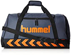 hummel Erwachsene Authentic Sports Bag Tasche, Ombre Blue/Nasturtium, 66 x 32 x 37 cm