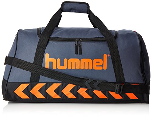 Hummel Erwachsene Authentic Sports Bag Tasche, Ombre Blue/Nasturtium, 60 x 27 x 31 cm