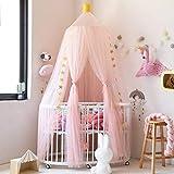 Baldachin für Kinder Romantischer Betthimmel Moskitonetz Kinderbett für Kinderzimmer Hängende Moskitonetz für Schlafzimmer Ankleidezimmer Spiel Lesen Zeit (Rosa)