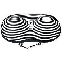 Sonline Ropa interior protectora bra lingerie portable storage organizador caja estuche de viaje, color blanco y negro stripes