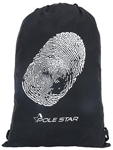 Polestar 11 Lt Black printed Sling shoulder Gym bag kids Drawstring Bag  available at amazon for Rs.199