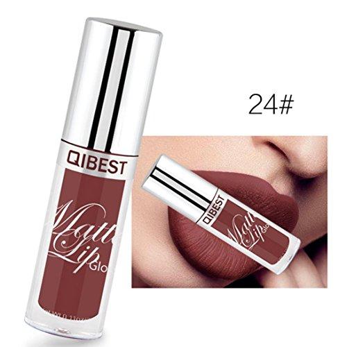 Tefamore Longue durée Imperméable Ultra Matte Liquid Rouge à lèvres Crème hydratante Maquillage de beauté (24#)