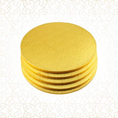 5 x Cake Drum 33 cm rund GOLD (13 mm) - Cakeboard CULPITT Gold Cake Drum