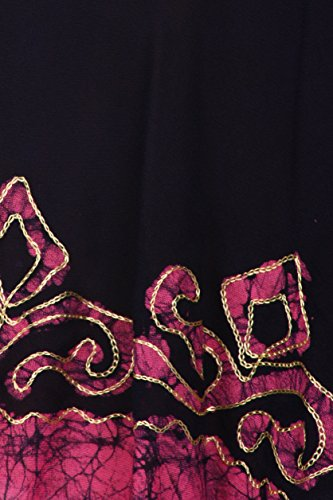Sakkas Wilde Rabe Batik hoch niedrig Bluse / Tunika Navy / Rosa