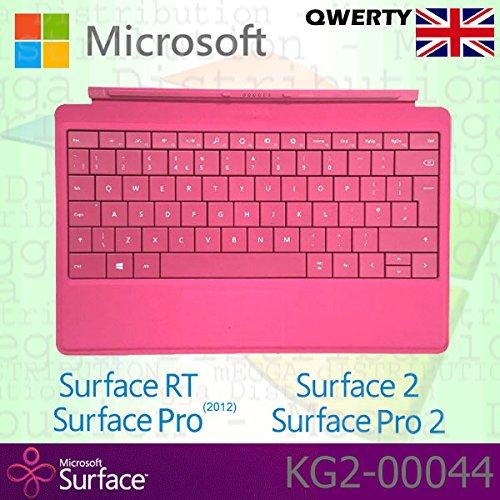 Microsoft Surface RT/Pro (2012)/2/Pro 2Type Cover Englisch QWERTY Tastatur mit Backlit Schlüssel-Magenta-OEM Box (Keine Einzelhandelsverpackung) (Surface Type Cover Mit Hintergrundbeleuchtung 2)