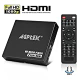 AGPTEK HDMI Media Player, 2 HDMI Out Splitter Modus, 1080p Full HD Ultra HDMI Digital Media Player für -MKV / RM- HDD-USB-Laufwerke und SD-Karten