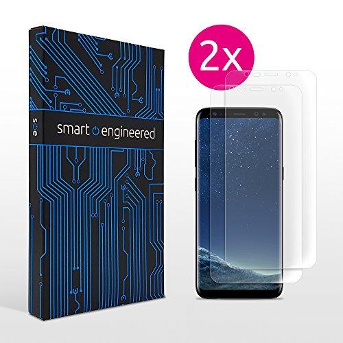 Galaxy S8 Schutzfolie [2 Stück] Panzerfolie volle Abdeckung [HD-Klar] einfache blasenfreie Aufbringung [Displayschutzfolie transparent] alternativ zu Samsung S8 Panzerglas Folie Schutzglas Glasfolie