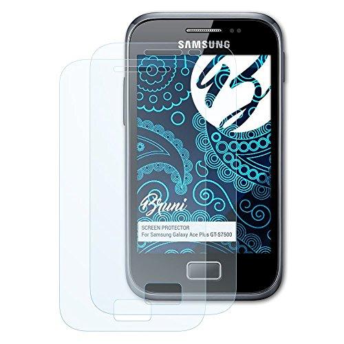 Bruni Pellicola Protettiva per Samsung Galaxy Ace Plus GT-S7500 Pellicola Proteggi, Cristallino Proteggi Schermo (2X)