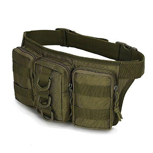 Impermeabile Tactical sport Outdoor borse vita Hip Pacchetto Pochete Uomo Casual Marsupio da escursionismo grande esercito Marsupio, sand camo Army Green