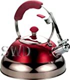 3.5L red modern stainless steel whistling kettle suitable - Best Reviews Guide