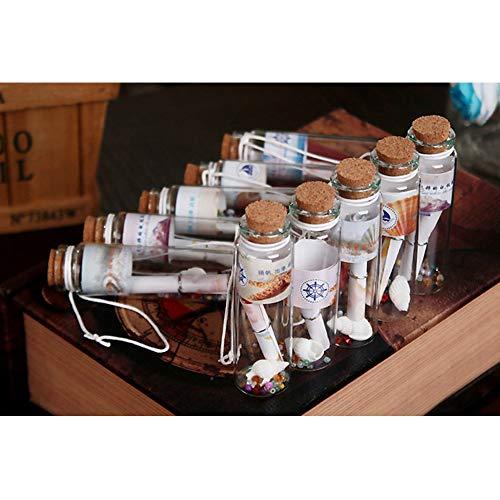 perfette per mini-messaggi in bottiglia fialette in vetro con tappo in sughero 20/ml Danmu Art