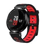 Flying Hedwig Smart Watch Bluetooth Sportuhr M10 Senioren Blutdruck Gesundheit ,Schrittzähler, Schlafanalyse , Smart Wear (Rot)
