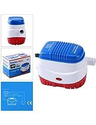 Amarine-made Pompe à eau de cale automatique submersible pour bateau 12V 750GPH Auto avec flotteur Switch-new bleu