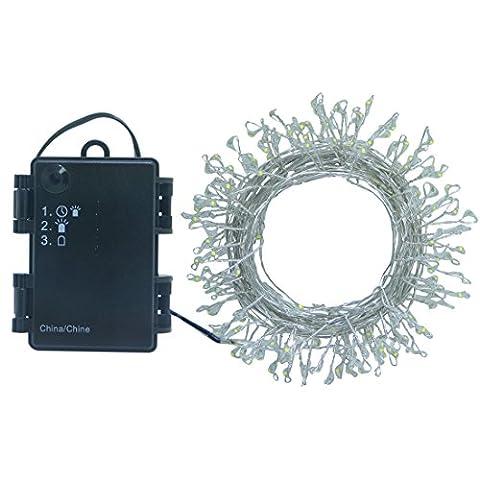 LISOPO Lichterkette 120 LED Batteriebetrieben mit Timer Lichterketten Beleuchtung für Weihnachten Feier Party Hochzeit