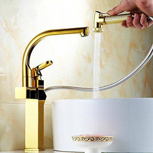 Wasserfall Schublade (Wmshpeds Küchenspüle Hahn Multifunktions Schublade Kupfer Becken Heiß- und Kaltwasserhähne)