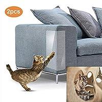 ZHER-LU 2pcs Pet Cat Furniture Mat Invisible Clear Sofa Protective Sticker Cat Scratch Pad