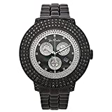 Joe Rodeo Diamond Men's Watch - Pilot Black 7.85 ctw