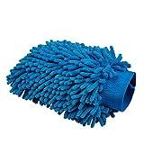 AJUSEN 2PCS Microfiber Handschuh, Autowaschen Mitt / Chenille Mitt Handschuhe / Premium Qualität Reinigungstuch für Auto Reinigung & Auto Detaillierung (Blau)
