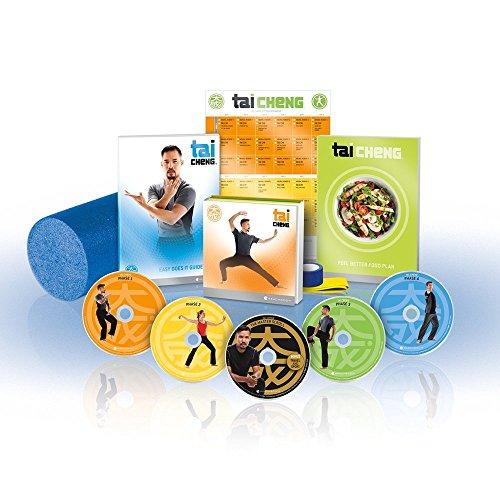 Beachbody Tai Cheng 90-Tagen lernen und praktizieren Tai Chi Programm, 12 Workouts auf 5 DVDs, Ernährungsplan und Schaumstoffrolle