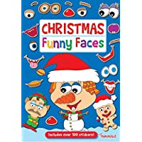 Squiggle A4 Christmas Xmas Funny Faces Sticker Book