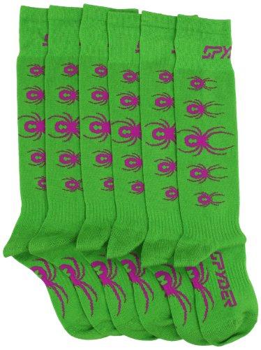 Spyder Boy 's Bug Out Socke, Jungen, Classic Green/Sassy Pink (Boys Spyder Bugs)