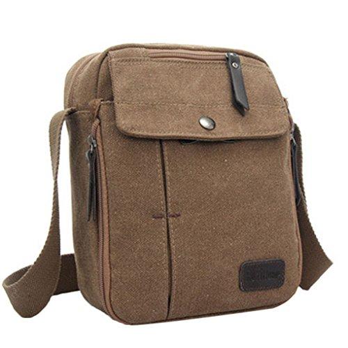 LUFA Messenger Bag Koreanische Version der beiläufigen Segeltuch Schulter Beutel Mann Beutel Multifunktionsbeutel kaffee