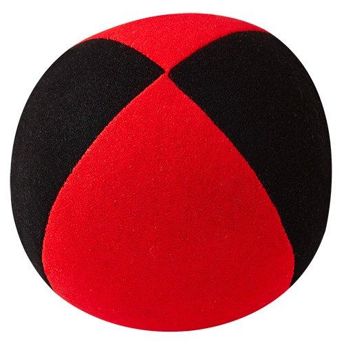 Jonglierball: HENRYS Beanbag Superior (Velours) 67mm, schwarz-rot