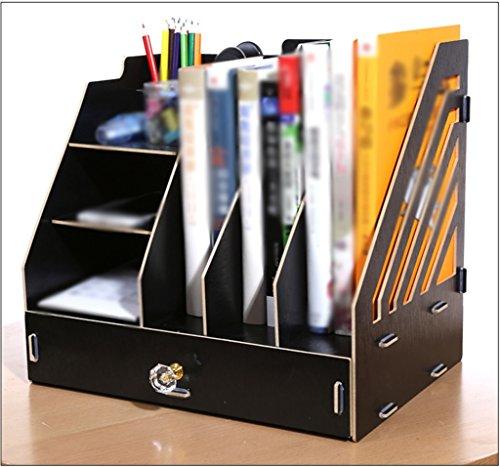 DFHHG® Librería Librería Archivo Rack Suministros de oficina Creativo 32 * 24 * 30 Cm Cerezo Madera Madera durable ( Color : #2 )