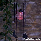 Smartes Gartenwindspiel mit Sonne, Mond & Sterne, Solar